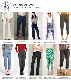 10 Trousers Sewing Patterns for Spring | Sew DIY | Bloglovin'