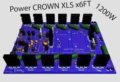 Crown power amplifier Crown Amplifier, Audio Amplifier, Cool Electronics, Electronics Projects, Electronic Schematics, Electronic Circuit, Power Supply Circuit, Speaker Box Design, Arduino Projects