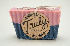 ROSE & CHARCOAL SOAP Rose Clay Soap Charcoal by TrulySoapCompany