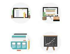 """Check out new work on my @Behance portfolio: """"Flat Design SEO & Development Icons"""" http://on.be.net/1ISjqtn"""
