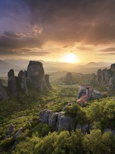 Photographic Print: Greece, Thessaly, Meteora, Holy Monastery of Rousanou by Michele Falzone : Greece Movie, Greece Photography, Greece Vacation, Biomes, Day Trips, Places To See, Monument Valley, Ramen, Travel Inspiration