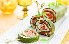 Rollo de espinaca y salmón >>>> http://www.srecepty.es/rollo-de-espinaca-y-salmon-para-navidad