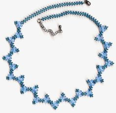 Free pattern for necklace Blue River Click on link to get pattern - http://beadsmagic.com/?p=7698