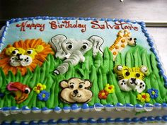 childrens birthday cake animal zoo
