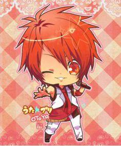 UtaPri ~~ Ittoki Otoya - 1000% Love Chibi :: Wish the other boys were all here, too.
