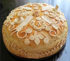 Krsna Slava Is Serbian Name Day: Servian Slavski Kolac or Slava Bread