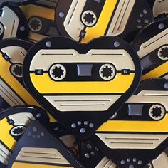 Yo dawg, I heard you like pins... @madebycooper did an amazing job turning my cassette heart into a a fancy little lapel pin. Available soon! #madebycooper