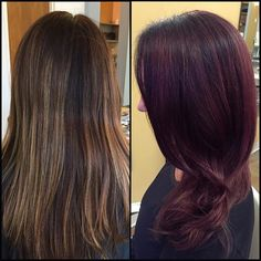 fall hair, fall 2015, purple hair, fun and funky, long hair, Hair by Bonnie, Blo Raleigh, NC #justblo #redkenobsessed #fallcolors