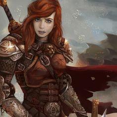 Female Warrior; An OC Mix