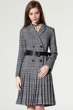 Tera Check Belt Coat Discover the latest fashion trends online at storets.com #coat #check #beltcoat