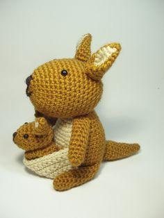 Crocheted Kangaroo Stuffed Animal