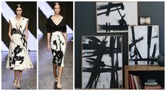 FOCAL POINT STYLING: 8 Fashion & Decor Inspirations From New York Fashion Week - Abstract Expressions - Fashion and Decor: inspired by American abstract expressionist, Franz Kline - To be seen next Spring in the Donna Karan New York - Ready-To-Wear Spring 2015 Collection -. Decor: West Elm (Kline replicas - No longer available)