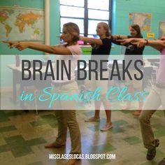 Brain Breaks in Spanish Class
