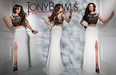 Tony Bowls TB11692 - Black/Ivory - Size 4 -Available at Stella's Bridal & Evening Collections