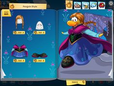 Anna club penguin clothing catalog