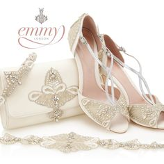 The stunning new collection from Emmy London of beautiful bridal flats and kitten heels. Exquisitely embellished bridal shoes guaranteed to wow!