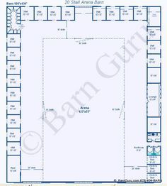 20 Stall Arena Horse Barn Design Plan Awesome Idea To Combine Indoor
