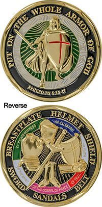 Armor of God Challenge Coin at The Veterans Site