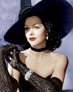 Hedy Lamarr. This picture is exactly how I see my character Delilah in my novel Charisse.