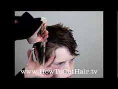 How To Cut Boys Hair - Long Layer Haircut - Razor Cut