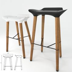 Pilot Stool Quinze & Milan  Pilot Stool Quinze & Milan Made in Belgium by Quinze & Milan.   Material | 3D Max 2010 | obj  Credit: Roberto | ...
