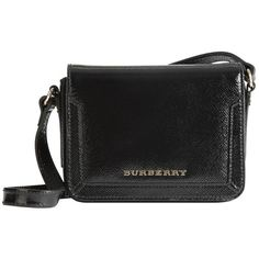 Burberry Patent London Leather Crossbody Bag ($650) ❤ liked on Polyvore
