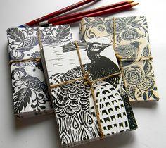 Lino Print Blank Cards