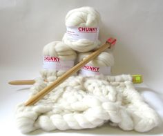 I've created some Chunky Knitting projects for the shop. Massive knitting needles made from recycled pine, and Wool slivers with . Knitting Help, Easy Knitting, Merino Wool Blanket, Textile Design, Knit Crochet, Textiles, Stitch, Chunky Knits, Pattern