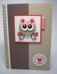 "Love bug card, butterfly, ½"" and ¾"" circle, oval large, oval extra‑large, small heart, heart to heart, two-step bird"
