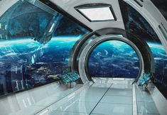 Wall mural sci-fi photo art Wall mural futuristic spaceship Fantastic interioir photo wallpapers Wall mural of starship interior SKU 20016 Fototapete Science-Fiction-Fotokunst. Wallpaper Collage, Wallpaper Wa, Photo Wallpaper, Wallpaper Murals, Adhesive Wallpaper, Spaceship Interior, Futuristic Interior, Futuristic Architecture, Futuristic Art