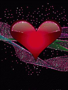 .RED HEART THAT SPARKLES.