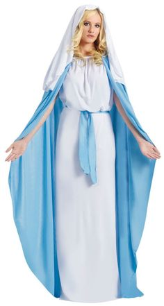 Biblical 'Mary' costume can be used in Church plays and Nativity scenes