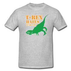 t-rex hates pushups #crossfit t-shirt