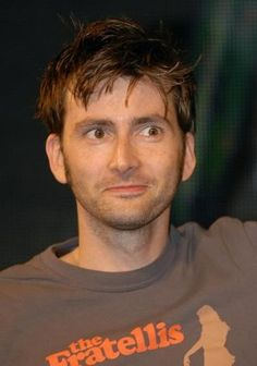 David Tennant wearing a Fratellis band tee. Best. Things. Ever.