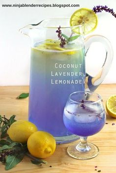 Coconut Lavender Lemonade - Delicious for summer time in the sun. People love it! Looks cool and tastes cool!