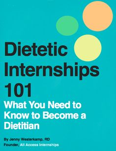 50% of students don't get matched to a dietetic internship. We're here to help. www.allaccessinternships.com