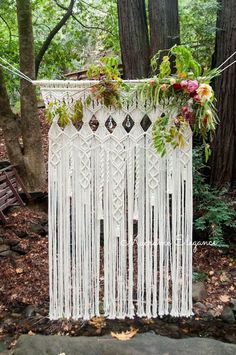 Imagine hanging this beautiful wedding backdrop in your home after your wedding! This large, elegant macrame statement piece is going to make your wedding absolutely dreamy. Original design and handcrafted, this wedding backdrop can be used for indoor or outdoor ceremonies. Think of using it at your ceremony, reception or behind the head or cake table. Photographers will love to use it and it makes your wedding photography look stunning. However you choose to use it, it will stand out in its…