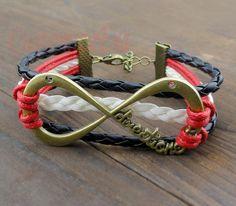 One Direction Infinity Bracelet forever by CustomizeEra on Etsy, $5.99