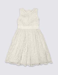 Cornelli Dress (1-14 Years) | M&S
