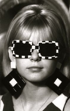 1960's fashion - op-art sunglasses & earrings had these too