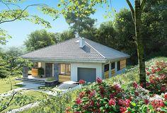 Zdjęcie projektu Blanka - murowana – beton komórkowy KRD2768 Compact House, Bedroom House Plans, Future House, Gazebo, House Design, Outdoor Structures, Cabin, How To Plan, Architecture