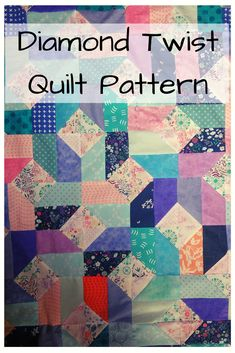 5 quilt sizes, two block sizes, lots of potential! This quilt pattern is quick, easy, and beginner friendly. Give it a try today! Quilt Square Patterns, Modern Quilt Patterns, Quilting Patterns, Quilting Tutorials, Square Quilt, Sewing Patterns Free, Free Sewing, Quilting Projects, Scrappy Quilts