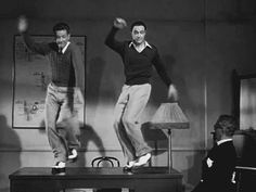 """Moses supposes erroneously"" :) Donald O'Connor and Gene Kelly. ""Singin' In The Rain"""