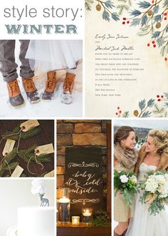 style story: winter wedding