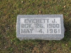 Everett John Hemingway (1900 - 1961) - Find A Grave Photos Everett John Hemingway Memorial Photos Flowers Edit Share Learn about sponsoring this memorial... Birth: 	Oct. 26, 1900 Death: 	May 4, 1961    Burial: Hollenbeck Cemetery  Columbiaville Lapeer County Michigan, USA