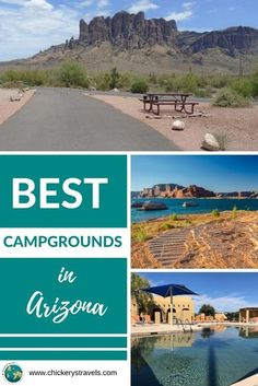 This list of the best campgrounds in Arizona represents some of the best national park campgrounds, state parks, and privately owned RV resorts for any type of camper from large RVs to tent campers and everything in between. With a state-wide elevation difference of 12,563 feet, you can always find the best outdoor weather simply by changing elevation. So bring your motorhome, fifth wheel, trailer, camper, or tent to the Grand Canyon state. Rv Travel, Family Travel, Travel Destinations, Best Rv Parks, Best Campgrounds, Perfect Road Trip, Tent Campers, Get Outdoors, Travel Around The World