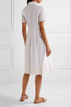 Draper James | Appliquéd broderie anglaise cotton dress | NET-A-PORTER.COM