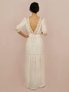 Rustic wedding dress boho wedding dress bohemian dress by Anaoiss