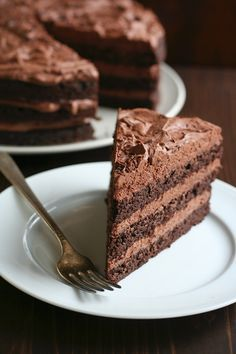 Low Carb Chocolate Layer Cake with Whipped Ganache Frosting