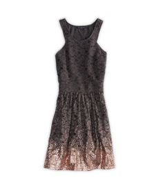 rose gold dipped AE dress